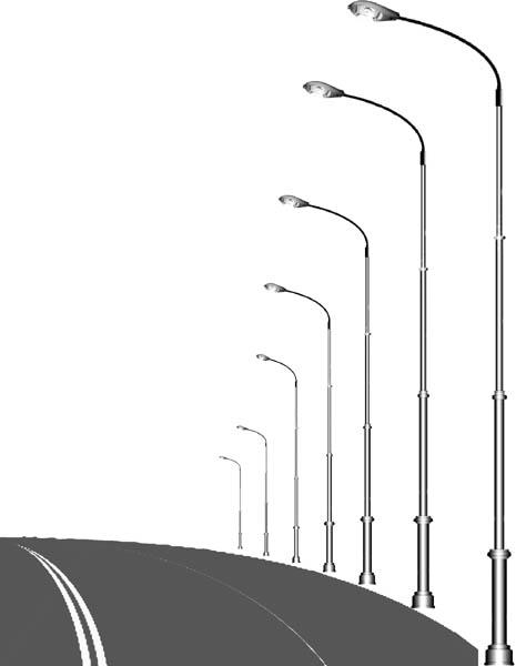 Расстояние между световыми опорами в городе