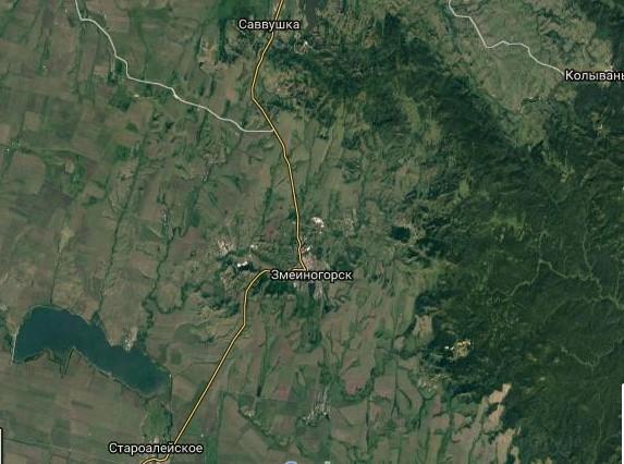 Как выглядит Змеиногорск на картах разного времени?